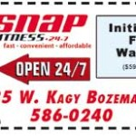 Membership to Snap Fitness in bozeman guarantees: 24/7 access to 2,000 locations