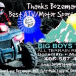 Bozeman's Best of Bozeman – Best ATV/Motor Sports Store 2017 – Big Boy Toys