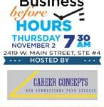 Business Before Hours – Career Concepts on November 2, 2017