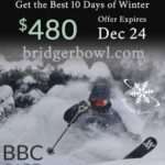 Bridger Bowl is offering a couple hot deals on Frequency Cards through December 24th, 2017