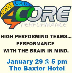 Brain-based performance workshop comes to Baxter on January 29, 2018 at 5:30 pm