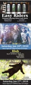 At The ATTIC Local group Blub follows with a show Saturday, January 27th at 8:30pm