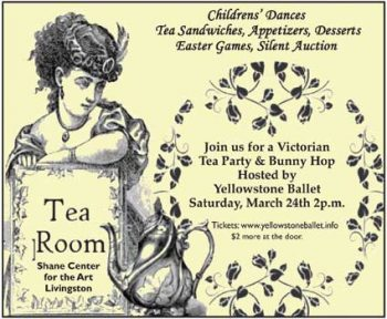 Yellowstone Ballet Company (YBC) will present an Easter Tea event on Saturday, March 24th, 2018