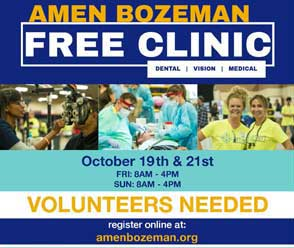 Bozeman AMEN Clinic – a FREE dental, medical/ vision clinic