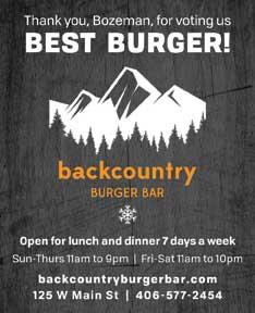Best of Bozeman Best Burger 2018- BackCountry Burger Bar