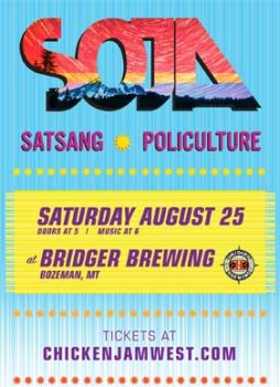 Back to School' outdoor show with SOJA on August 25th. Satsang & Policulture open