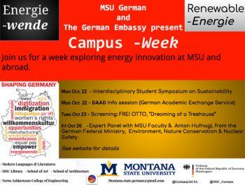 MSU German campus week- October 22-26, 2018